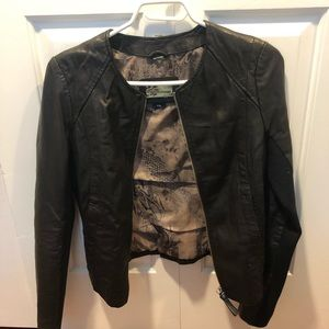 Mackage leather jacket from Aritzia